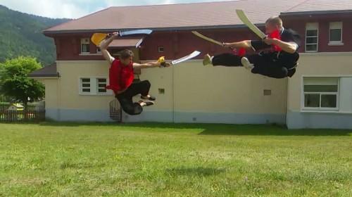 Entraînement avec les moines de Shaolin